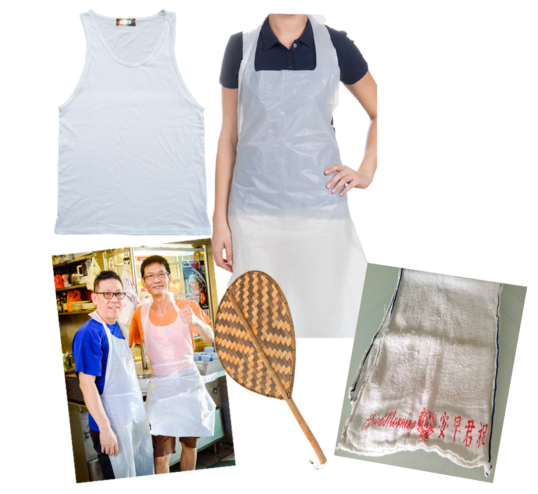 White apron singapore - Celebrate Their Tireless Efforts By Donning A Simple White Singlet And Plastic Apron Toting Around A Satay Fan And Draping A Traditional Good Morning Tea