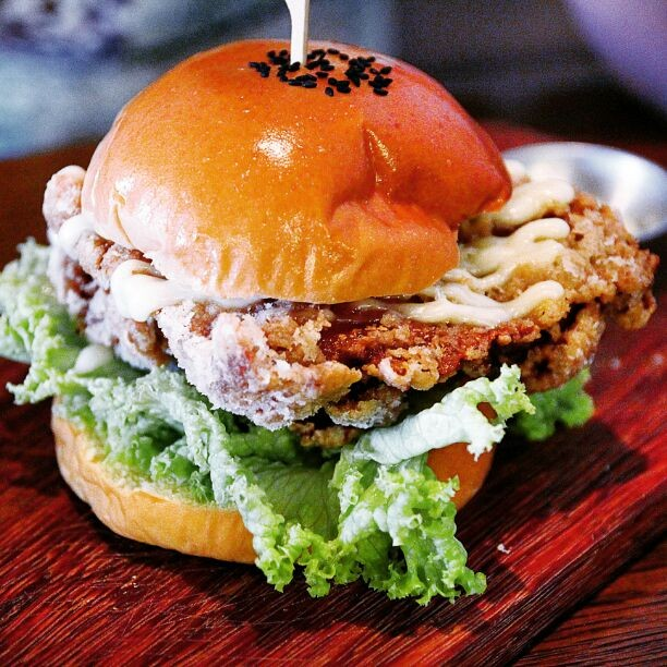 Singapore Hawker Recreations - Har Jeong Kai Burger