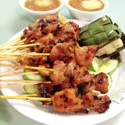 Singapore Hawker Recreations - Satay Chicken