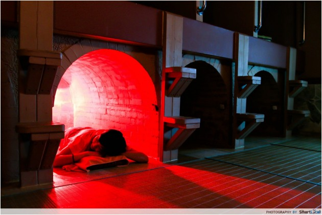 The Smart Local - Jjimjilbang infrared light therapy Dugout room