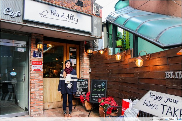 The Smart Local - Kimberly at Blind Alley Cafe entrance