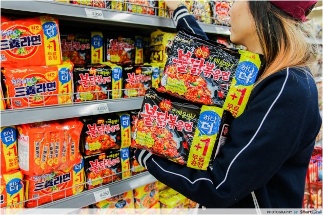 The Smart Local - Kimberly shopping at Lotte Mart for instant noodles