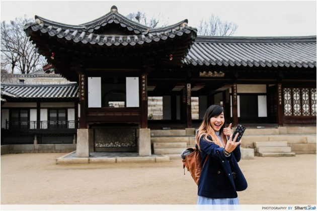 The Smart Local - Kimberly taking a selfie at Changdeokgung Palace