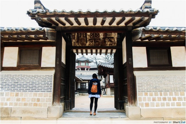 The Smart Local - Kimberly at Changdeokgung Palace entrance