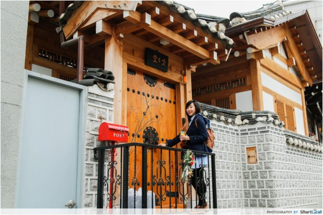 The Smart Local - Kimberly at a local Bukchon traditional Hanok house