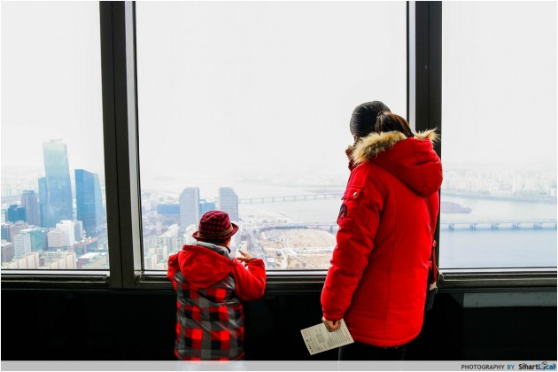 The Smart Local - Mother and son enjoying the view from 63 Tower in Yeouido Island