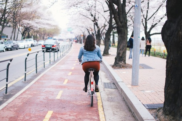 The Smart Local - Lady cycling at Yeouido park