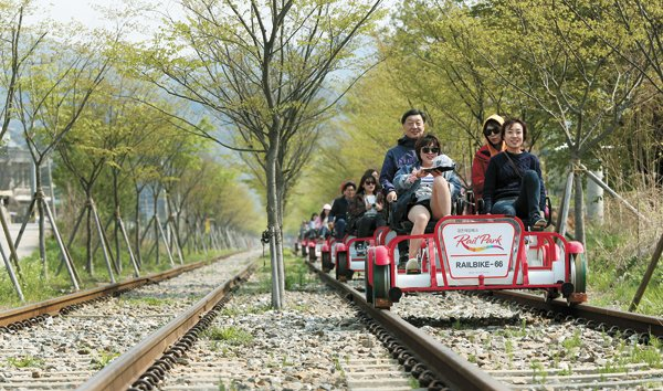 The Smart Local - Biking at Mugunghwa train tracks with family