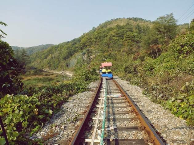 The Smart Local - Biking at Mugunghwa train tracks outdoor view