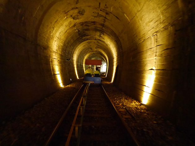 The Smart Local - Biking through Mugunghwa train track tunnel view