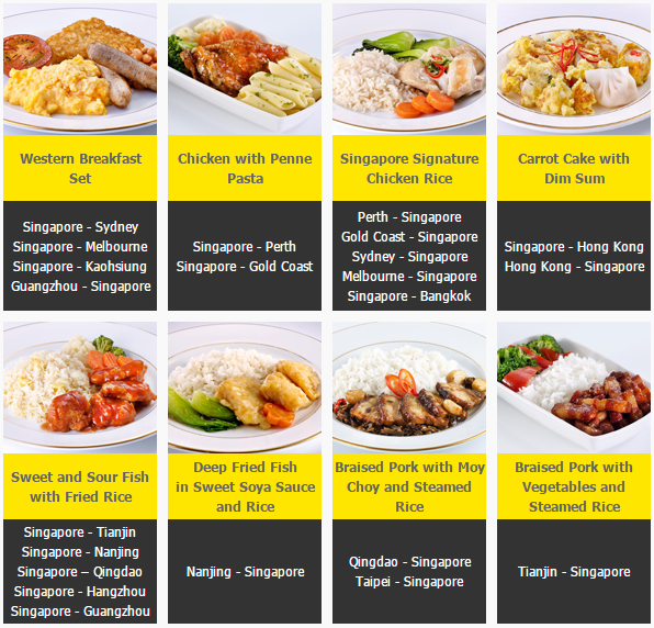 Scoot meals selections