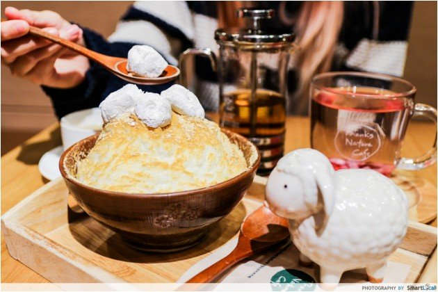 The Smart Local - Enjoy a Bingsu, which is a Korean shaved ice dessert at the sheep and raccoon cafe