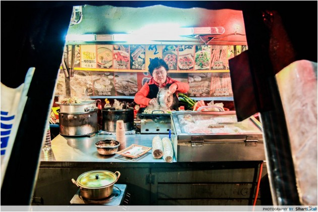 The Smart Local - Local seller at a Pojangmacha food wagon