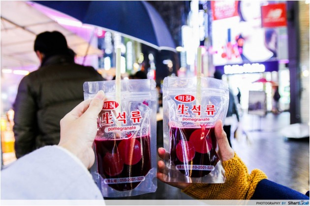 The Smart Local - Pomegranate juice at Myeong-dong street food
