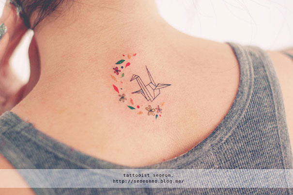 The Smart Local - Paper Crane tattoo