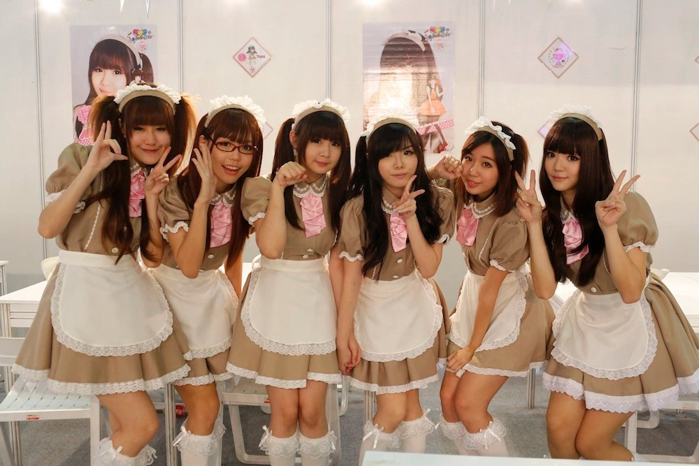 Japanese Activities In Singapore - Maid Cafe Waitresses