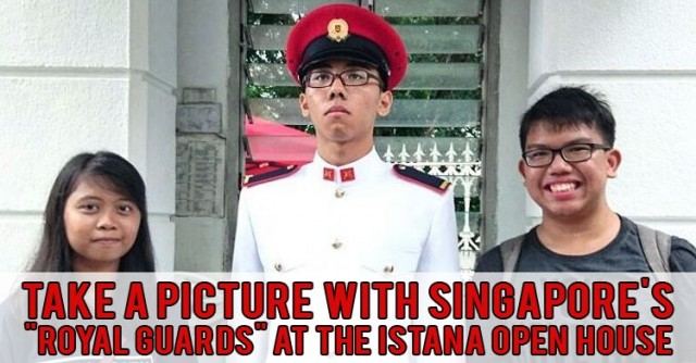 Photo Op with istana ceremonial guard
