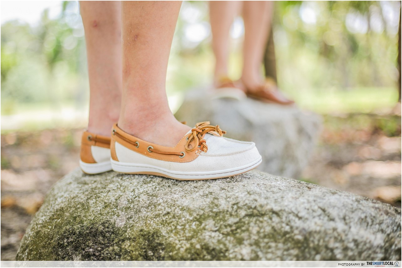 exploring lazarus island in sperry shoes