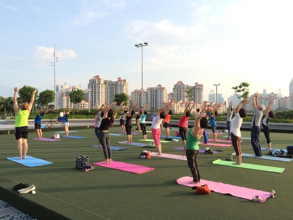 Save Money In Singapore - Sports Hub Free Sports Yoga Class