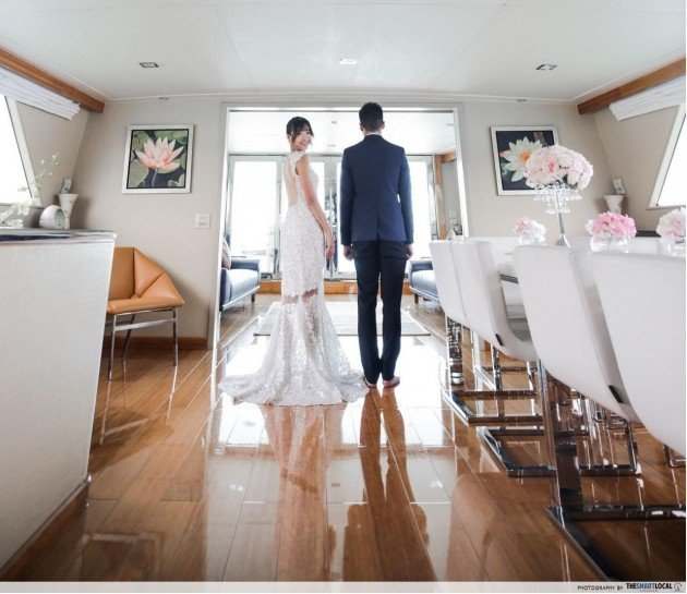 Feel Yourself Getting Transported To An Oasis Of Tranquility As The Yacht Cruises Along Smoothly And Create Precious Memories In This Unique Wedding Venue