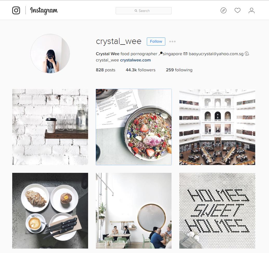 Image result for crystal wee instagram singapore