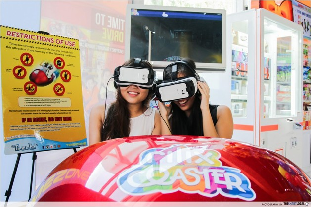 timezone arcade virtual reality rilix coaster