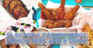 JINJJA Chicken - HALAL Korean Food from Just $6.90 for 6 Chicken Wings + Fries and Drink