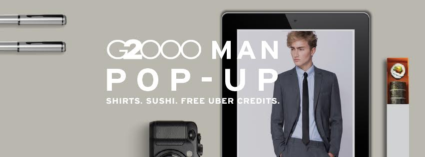 G2000 Pop-Up Store: FREE Maki-San, Zalora Vouchers And Uber Rides During Your Lunchtime!