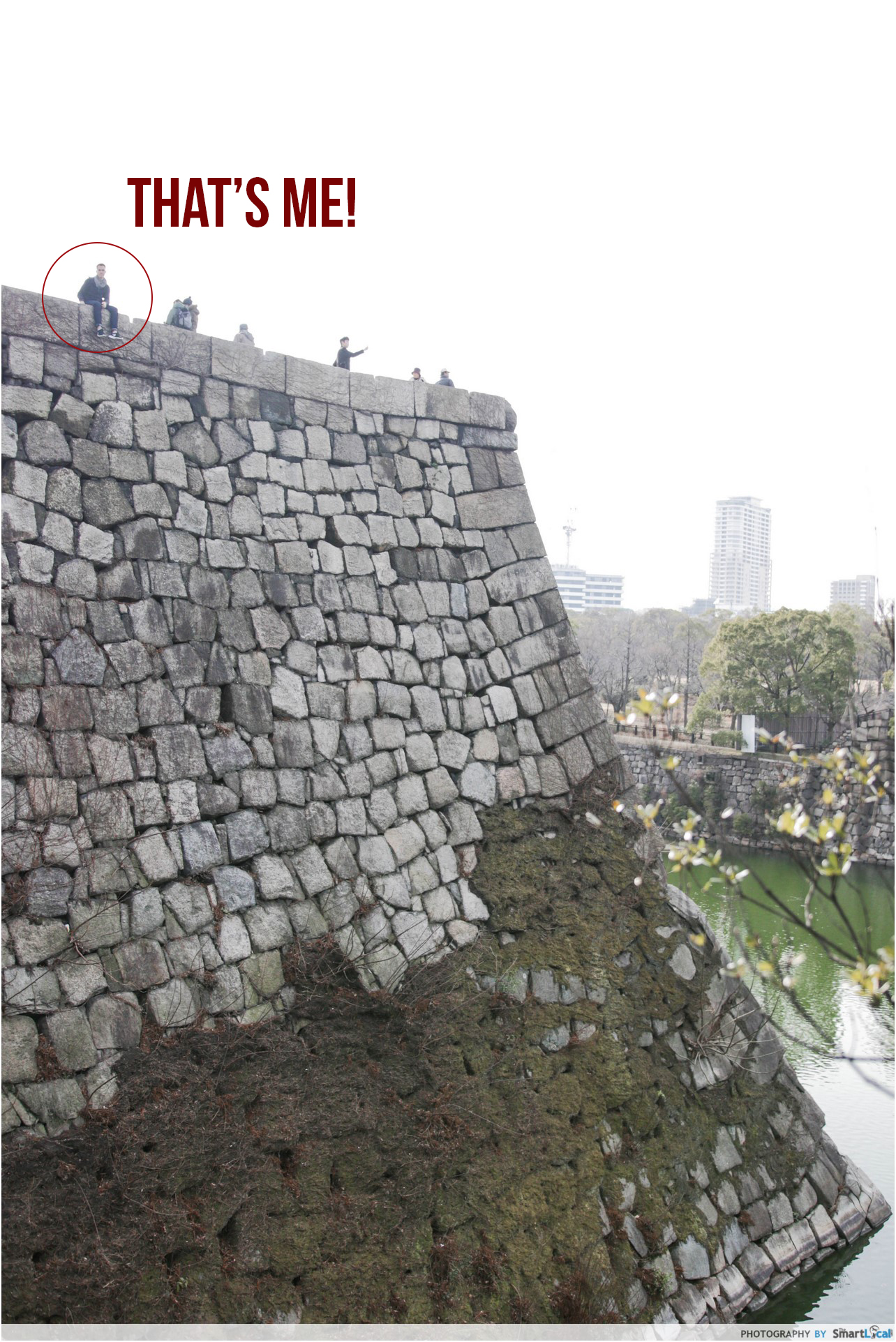 The Smart Local - Thomas at the edge of Osaka Castle