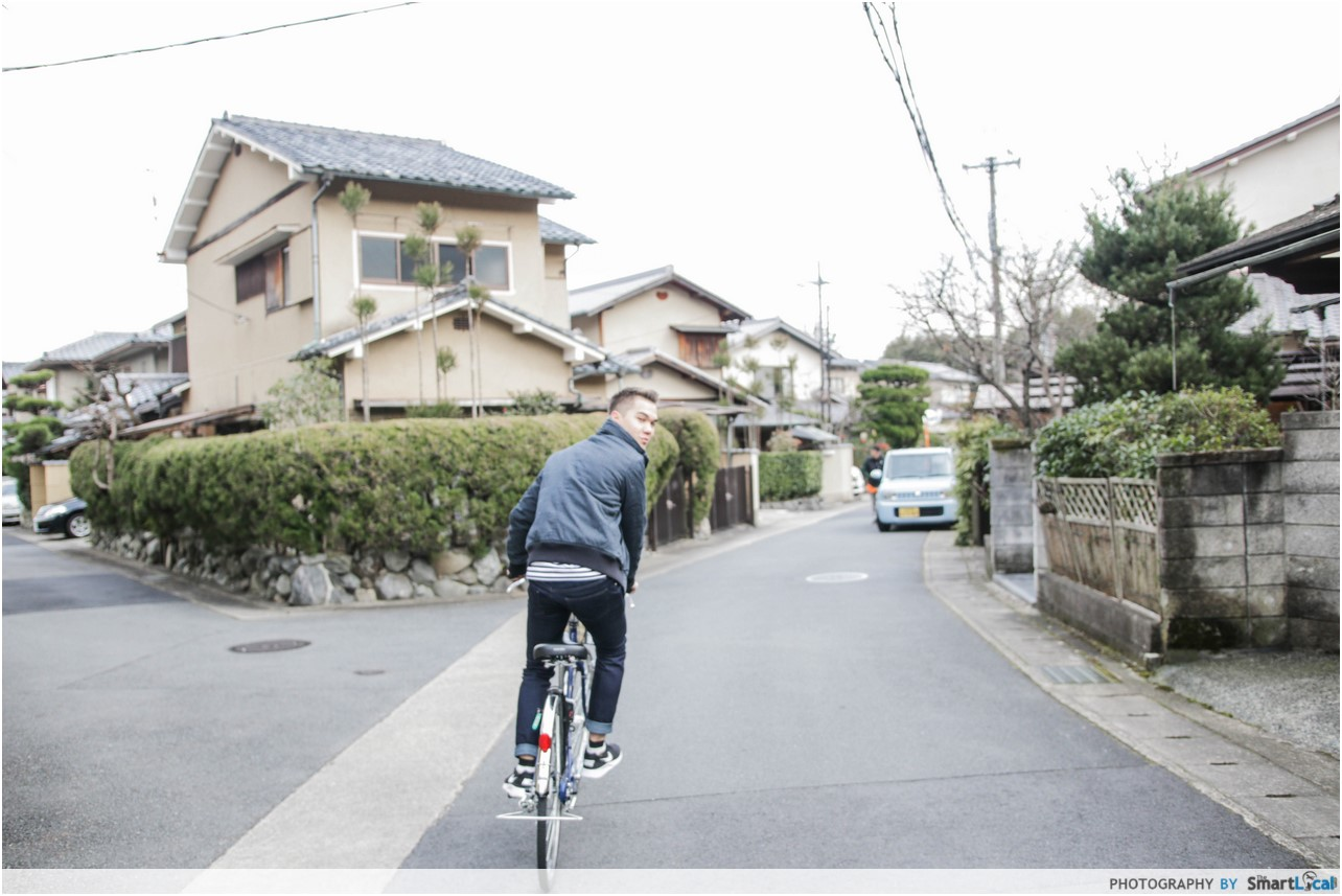 The Smart Local - Thomas cycling around Saga Toriimoto neighbourhood
