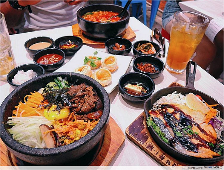 Cheap Korean Food In Singapore - Seoul Yummy Set Promotion Bibimbap