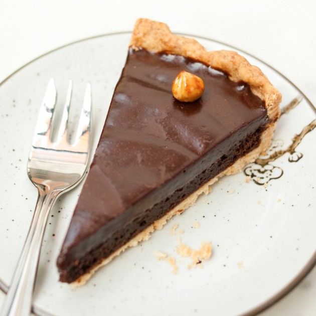 Nutella Chocolate Pie from Wimbly Lu