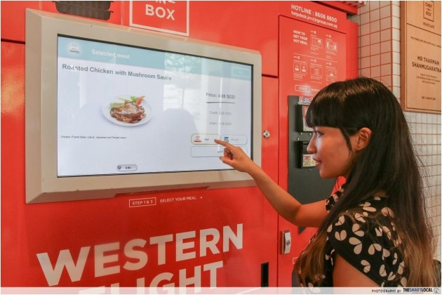 Singapore's FIRST Vending Machine At A Sengkang Void Deck And Serves Meals Under $5