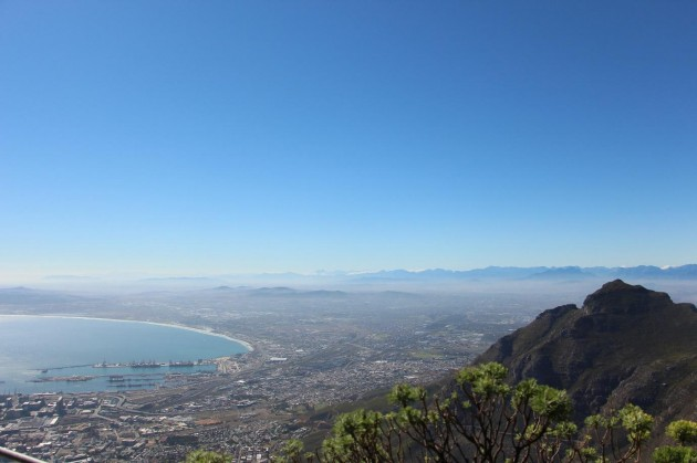 Table Mountain Top view