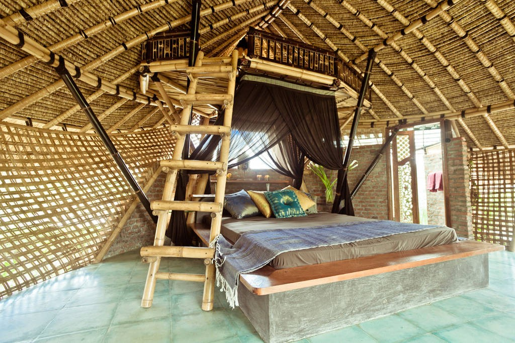 Firefly Bamboo Eco-Cottage Interior