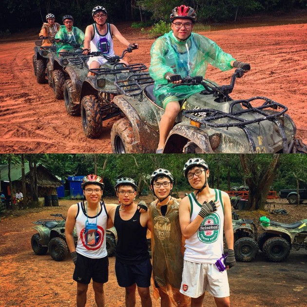 riding ATV in Thailand