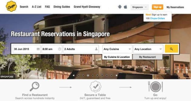 Singapore Startups Chope
