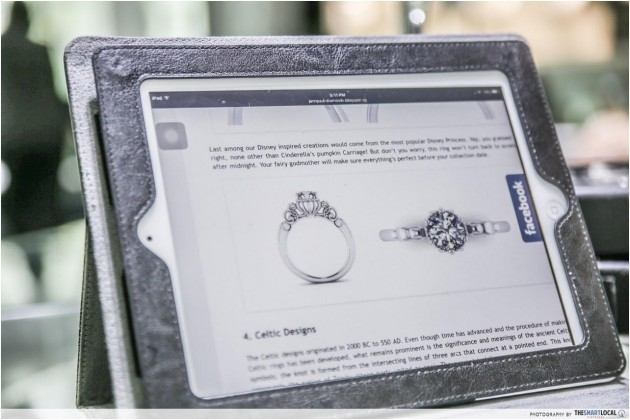 Disney princess inspired engagement ring design JannPaul