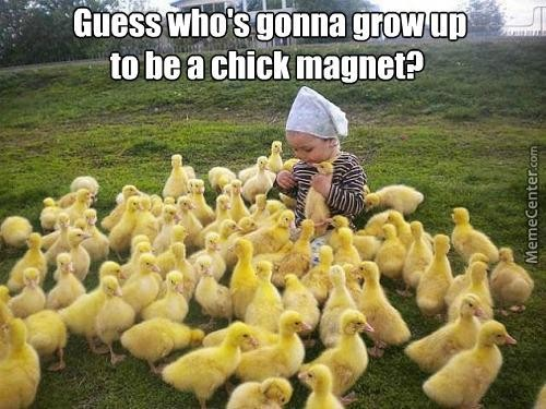 friends always think you're a chick-magnet
