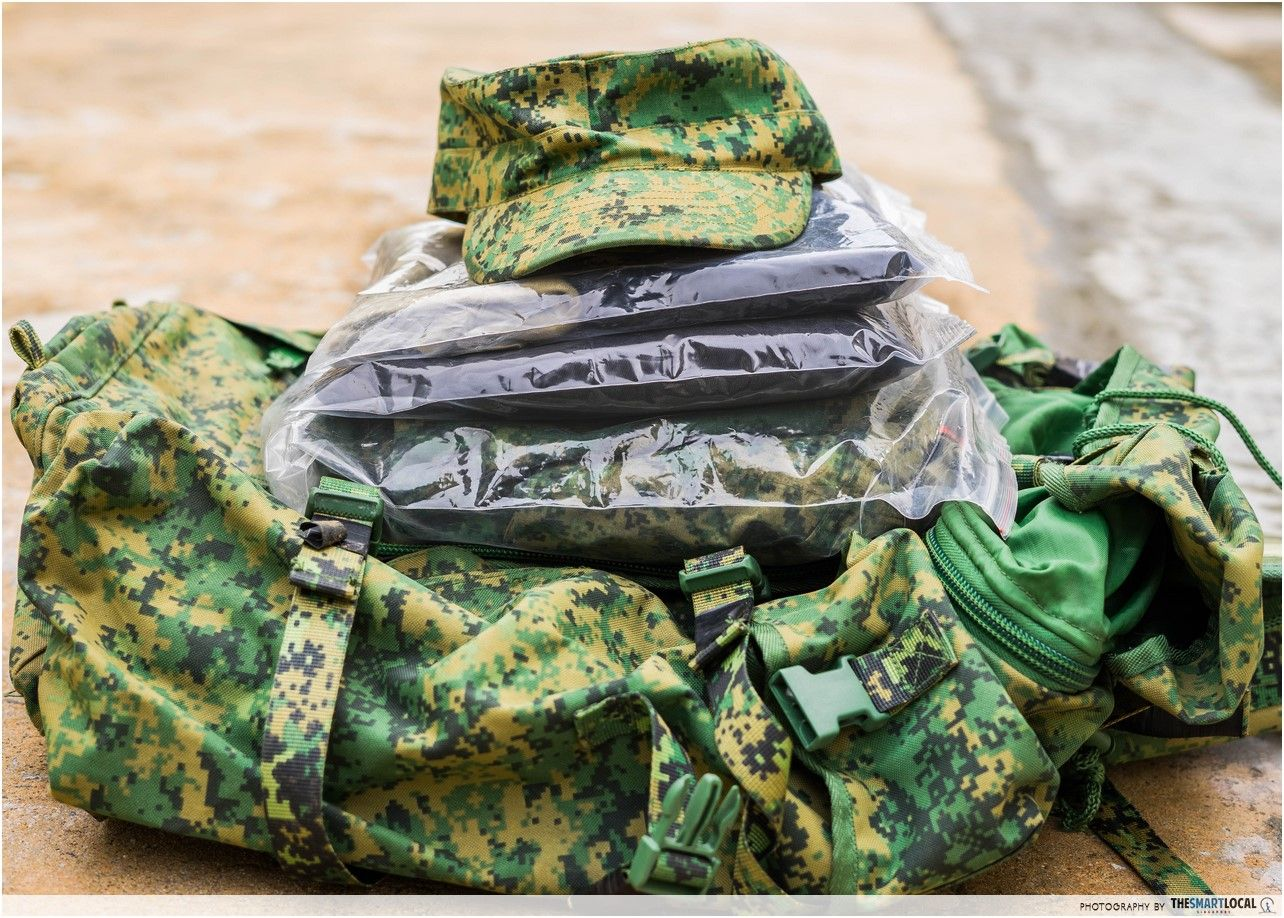 Singapore army vacuum packed ziplock