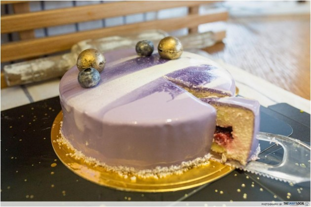 BreadTalk Mirror Cake Purple Sky