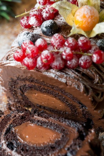 cedele chocolate log cake