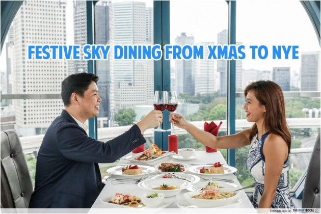 romantic sky dining on Singapore Flyer