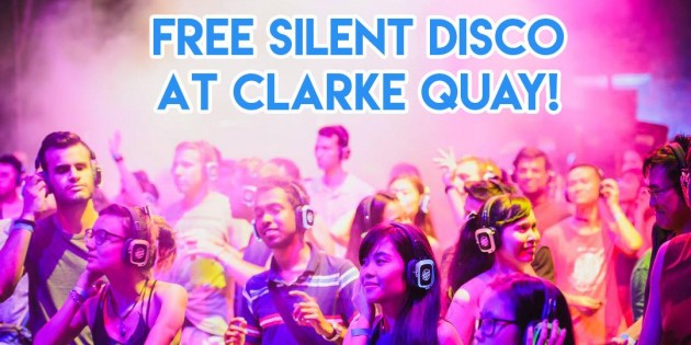 Free Silent Disco at Clarke Quay