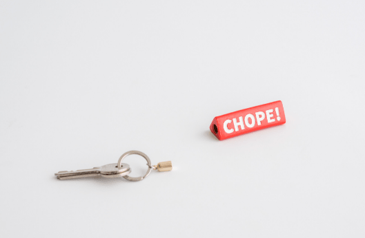 chope! Keychain, stuckshop