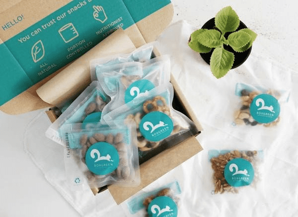 boxgreen, healthy snacks