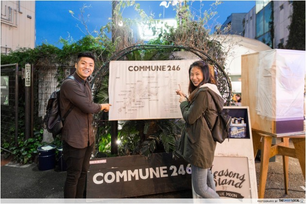 Commune 246, cafes, pop-up food kiosks, Harajuku