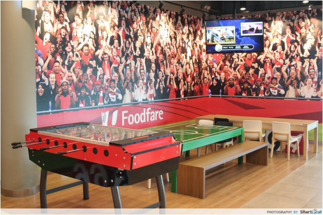 Kallang Wave Mall Foosball Table NTUC Foodfare