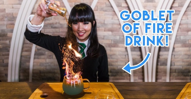 Platform 1094 - This Harry Potter-Themed Cafe Has Quietly Opened With A Dramatic 'Goblet Of Fire' In Flames