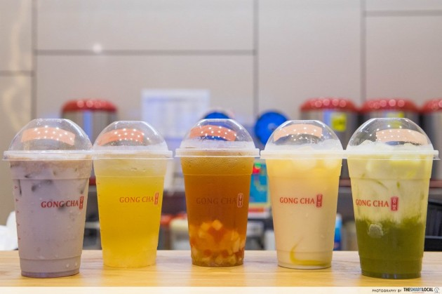 gong cha - mix and match flavours